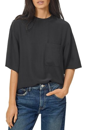 Equipment Viannet Silk Oversized Pocket Top