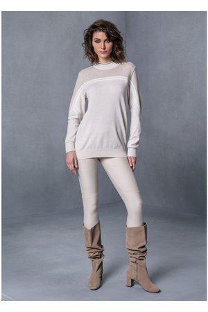 TRICOT CHIC High neck beige sweater