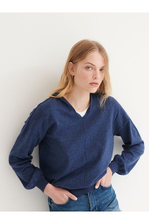 NRBY Lily hooded cotton cashmere sweater