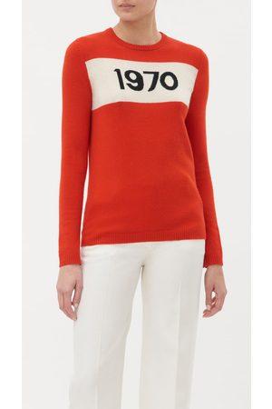 BELLA FREUD 1970's Jumper Red