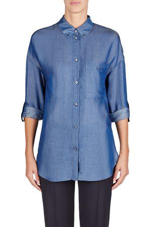 Pin up Sleeve Denim Shirt