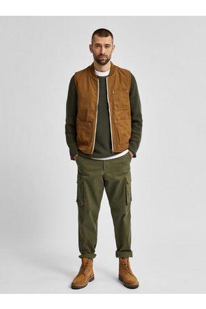 Men Tank Tops - Baker Cotton Zip Vest