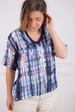 Sita Murt Print V Neck Top
