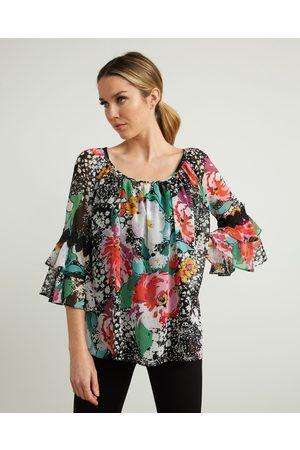 Joseph Ribkoff Off-Shoulder Floral Top Style 212302