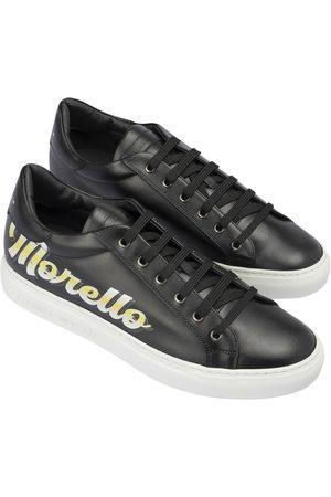 FRANKIE MORELLO Logo print leather sneakers