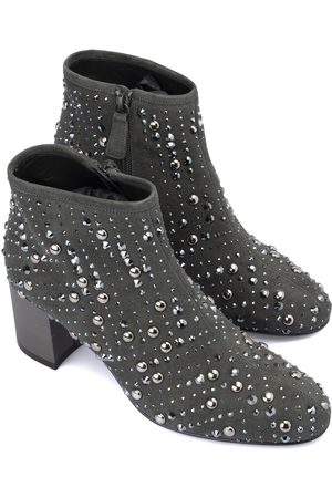 LORIBLU Suede studded ankle boot