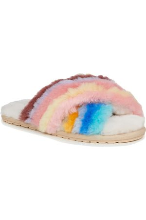 Emu EMU Mayberry Rainbow Crossover Sheepskin Slipper Slide - Multi