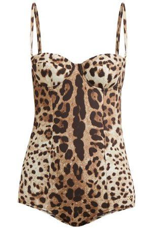 Dolce & Gabbana Leopard-print Balconette Swimsuit - Womens - Leopard