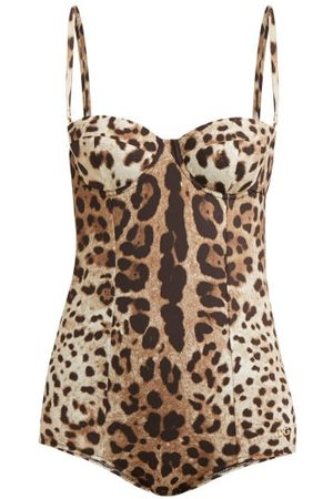 Dolce & Gabbana Women Swimsuits - Leopard-print Balconette Swimsuit - Womens - Leopard