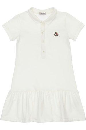 Moncler Girls Casual Dresses - Cotton Polo Shirt Dress