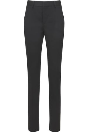 Saint Laurent Wool Straight Leg Pants W/ Belt