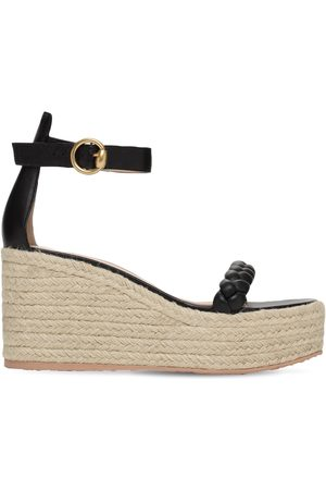 Gianvito Rossi Women Sandals - 85mm Leather Espadrille Wedges