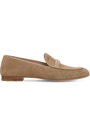 Gianvito Rossi 10mm Maxime Suede Loafers