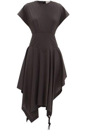 1 MONCLER JW ANDERSON Women Dresses - Handkerchief-hem Cotton-poplin T-shirt Dress - Womens