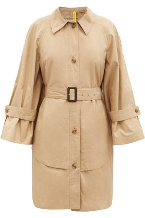 1 MONCLER JW ANDERSON Women Trench Coats - Dungeness Layered-hem Cotton Trench Coat - Womens
