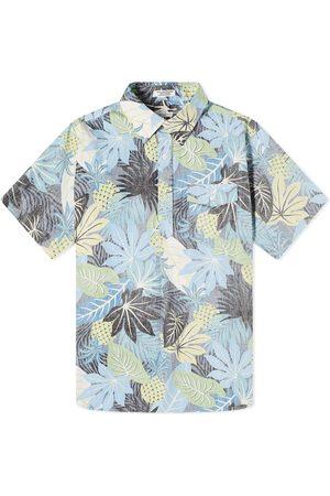 ENGINEERED GARMENTS Short Sleeve Hawaiian Popover Button Down Shirt