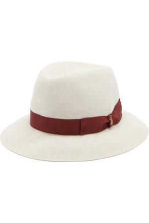 Borsalino Ribbon-trimmed Fedora Hat - Mens