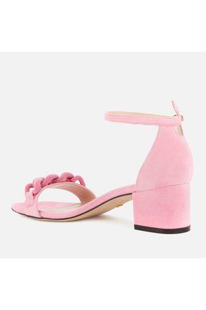 Stuart Weitzman Women Sandals - Women's Amelina Chain Block Heeled Sandals