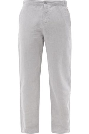 Orlebar Brown Telford Linen-blend Chambray Trousers - Mens - Grey