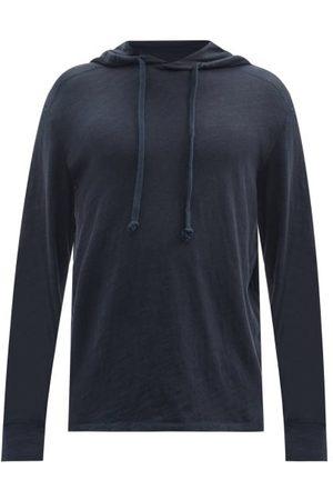 RAG&BONE Flame Carded Cotton-jersey Hooded Sweatshirt - Mens - Navy