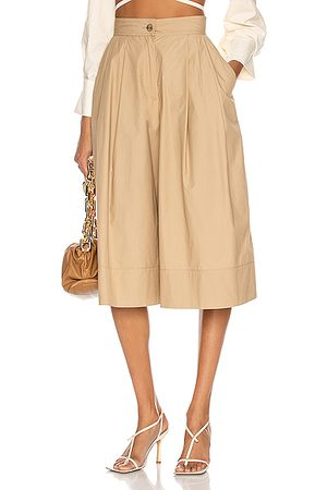 Moncler Genius 1 Moncler JW Anderson Double Pleat Culotte in Tan
