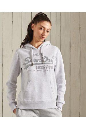 Superdry Women Hoodies - Vintage Logo Embossed Glitter Hoodie