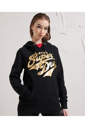 Superdry Women Hoodies - Limited Edition Golden Script Hoodie