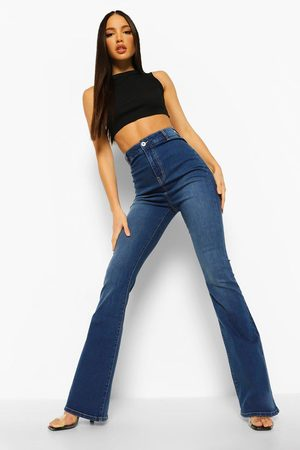 Boohoo Women High Waisted - Womens Tall High Waist Skinny Flared Jeans - - 2