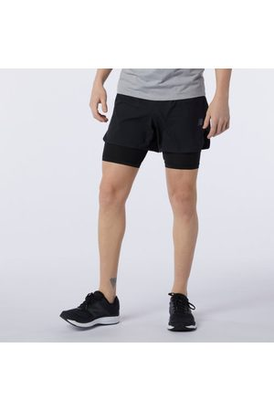 Men Shorts - New Balance Men's Q Speed Fuel 2 in 1 5 Inch Short