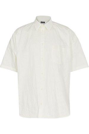 Balenciaga Men Short sleeves - Short sleeve Cocoon wrinkled shirt