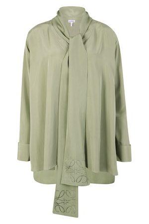 Loewe Women Blouses - Anagram Lavaliere blouse