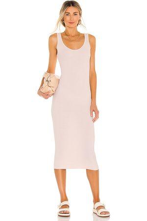 ENZA COSTA Women Midi Dresses - Silk Rib Tank Midi Dress in .