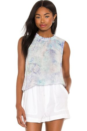 Bella Dahl Smocked Neck Tank in .