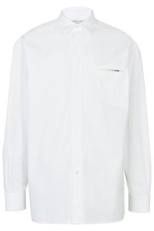 Bottega Veneta Popeline pocket long sleeve shirt