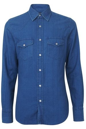 Tom Ford Light denim western shirt