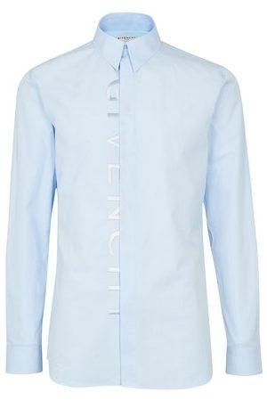 Givenchy Men Business - Split embrodery logo plain shirt