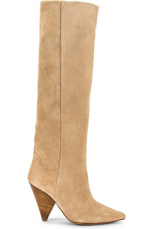 Toral Knee High Boot in Nude.