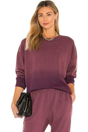 WSLY The Ecosoft Crewneck Sweatshirt in Purple.