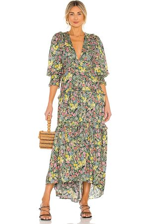 LOVESHACKFANCY Lorencia Dress in Green,Yellow.