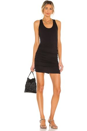MONROW Supersoft Tank Shirred Dress in .