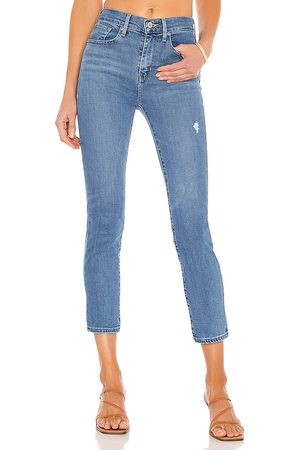 Levi's Women 724 High Rise Straight Crop in Blue.