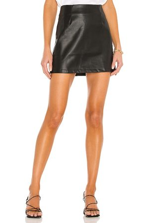 LBLC The Label Abby Vegan Leather Mini Skirt in .