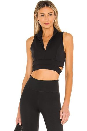 Lanston Renew Zip Crop Top in .