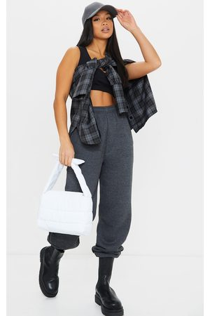 PRETTYLITTLETHING Petite Charcoal Casual Jogger
