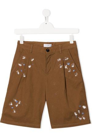 Paolo Pecora Paint-effect shorts - Neutrals