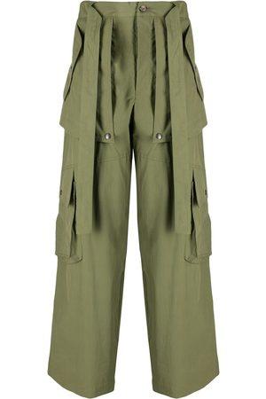 Kenzo Tie-waist cargo trousers