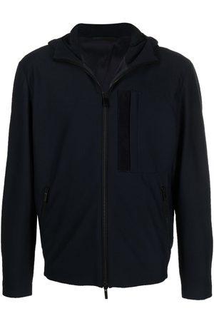 Armani Men Jackets - Hooded zip-up track jacket