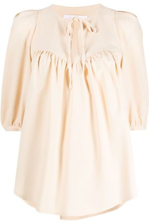 See by Chloé Women Blouses - Tie-front blouse - Neutrals