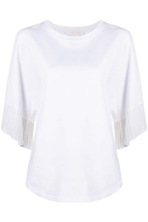 See by Chloé Pleat-trim cotton T-shirt