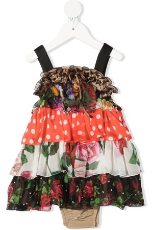 Dolce & Gabbana Baby Casual Dresses - Mix-print ruffled dress